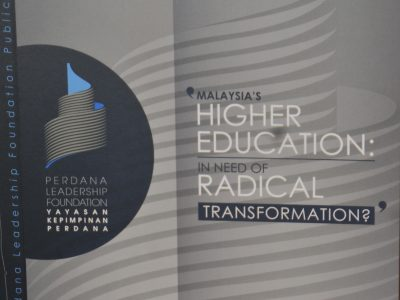 PERDANA DISCOURSE SERIES NO.16: MALAYSIA'S HIGHER EDUCATION; IN NEED OF RACIAL TRANSFORMATION?