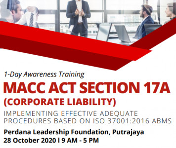 Corporate Liability Provision (Section 17A) – Getting Corporate Malaysia Ready